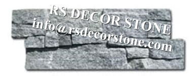 Grey Granite Cement Stone Panel(cement backing)