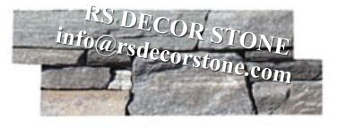 Light Grey Mica Cement Stone Panel(cement backing)