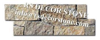 Yellow Limestone Stone Panel(cement backing)
