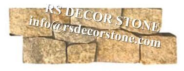 Yellow granite Cement Stone Panel(cement backing)