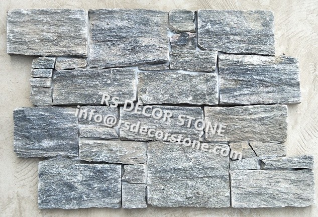 Sage Green Quartzite Stacked Stone(With Cement And Mesh)