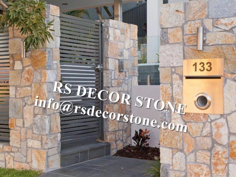 Brilliant Golden Limestone Ledgestone