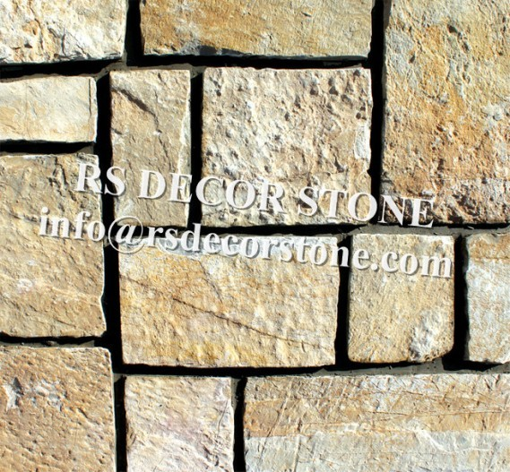 Brilliant Golden Limestone Castle Stone