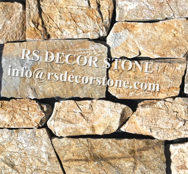 Brilliant Golden Limestone Ledgestone