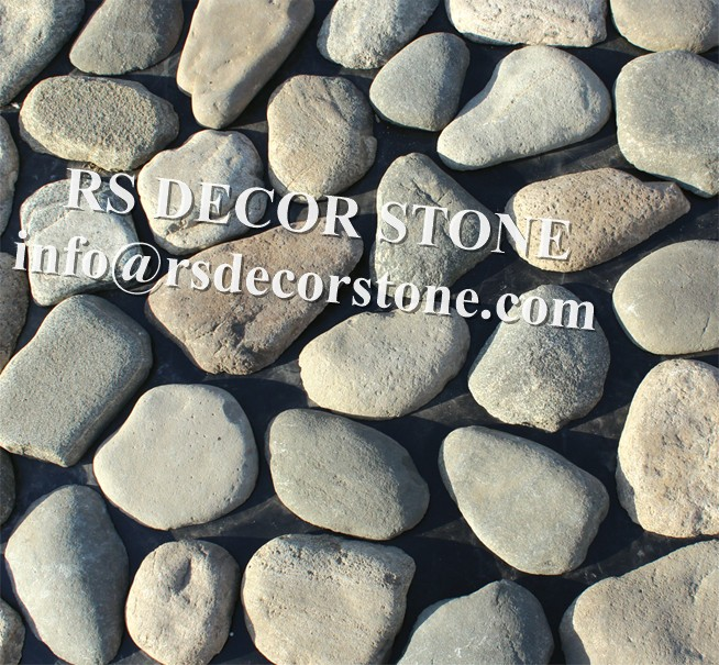 Light Cobble Mosaic Thin Stone Veneer