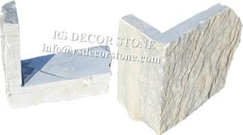 Silver White Limestone Mosaic Thin Stone Veneer