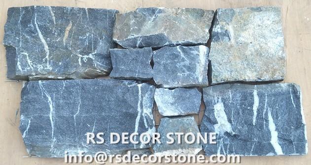 Earth Blue Limestone Rock Panel(Metal Mesh Backing)