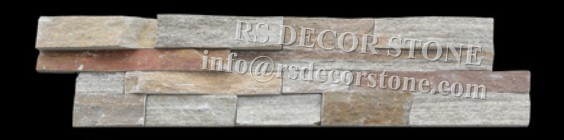 Shimmer Quartzite Stacked Stone Panel