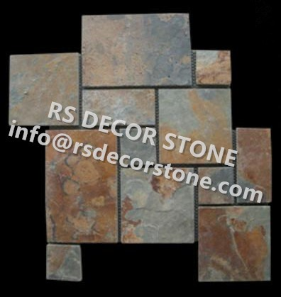 Rusty Slate Pattern(plastic mesh backing)