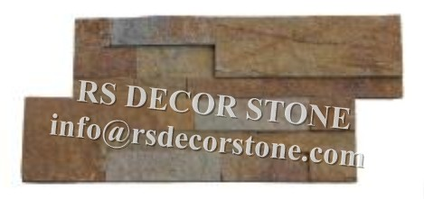 Rusty Quartzite S Shape Stone Wall Covering