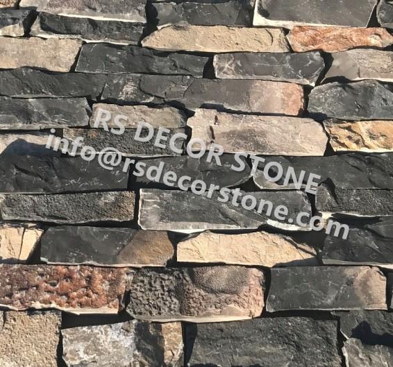 Charcoal Gray Limestone Ledgestone