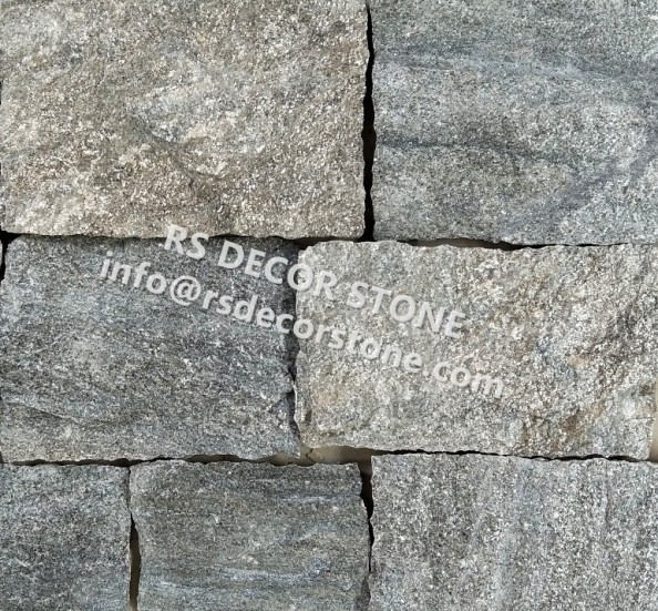 Metal Grey Quartzite Castle Thin Stone Veneer